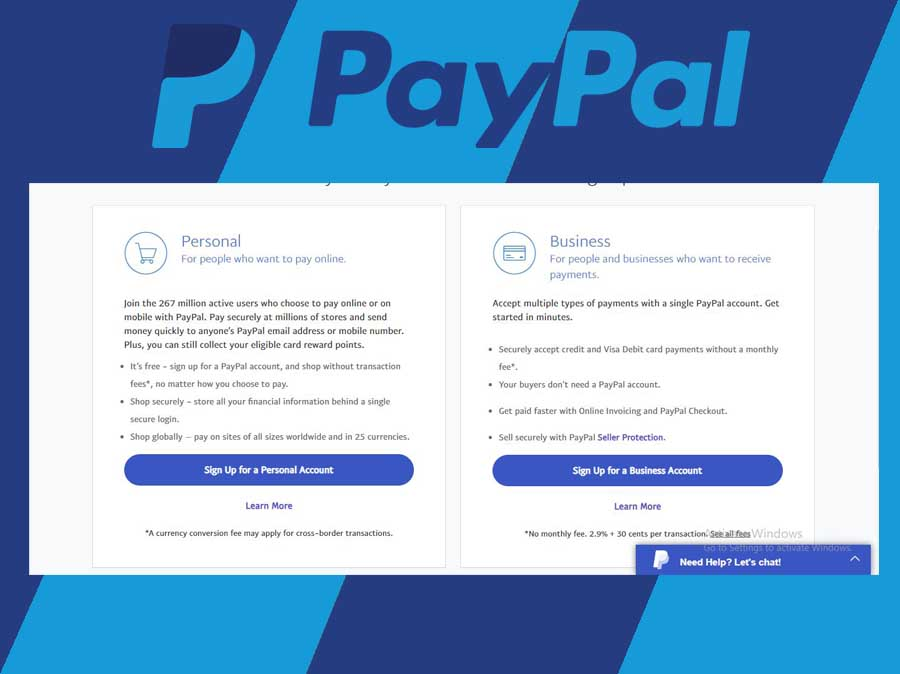 PayPal Account Sign Up - Create a PayPal Account   PayPal Registration